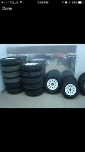 brand new trailer tires with rim