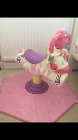 Fisher price bounce & spin zebra