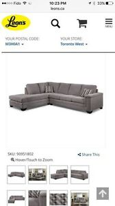 Grey Microfibre Sectional for Sale