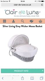Moses Basket, Stand & Specialist Mattress