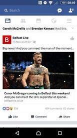 1x UFC Belfast Ticket