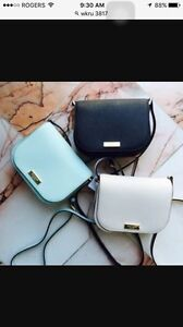 Kate spade small black leather cross body