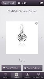Pandora signature pendant
