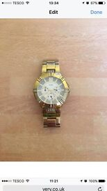 Gold plated guess watch £80 ONO
