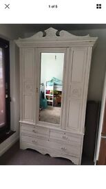 Restored shabby chic wardrobe