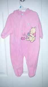 0-3 winnie the pooh fleece hooded outfit