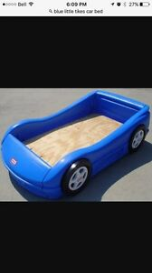 Blue Race Car Bed