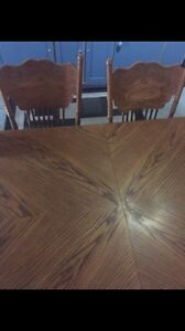 Urgent! Must go. Solid wood country dining/6 chairs Windsor Region Ontario image 1