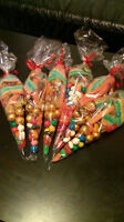 we sell/make candy bags, candy cones for any occasions! 4$