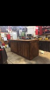 Custom Built Rustic Wood Bar $800