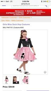 Size 8-10 Halloween Costume poodle skirt