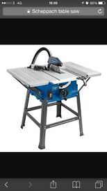 New boxed scheppach 250mm table saw