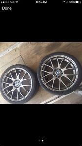 BMW Aftermarket Rims and Tires (includesTPS Sensors)