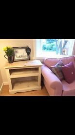 REDUCED!! Hand painted wooden TV unit