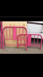Pink double bed frame