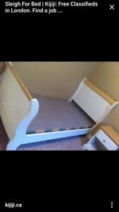 Double white sleigh bed London Ontario image 1