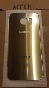 Samsung galaxy S6 Platinum/Gold back glass Replacement