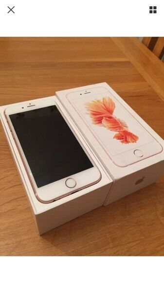 iPhone 6s 64gb rose gold on Vodafone only used few times