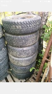 Ford Windstar studded winter tires 215/70R15 on rims 5x108