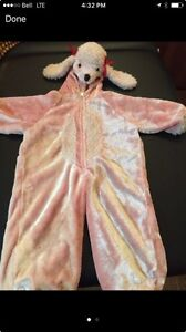 Pink puppy costume - size 3T