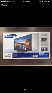 "Sealed Samsung 28"" led TV"