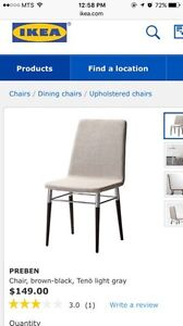 IKEA chair + desk lamp CAN DELIVER FOR FREE