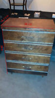 Beautiful 1940 Antique Walnut Dresser In Excellent Condition