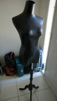 mannequin manikin stand type female black like new!