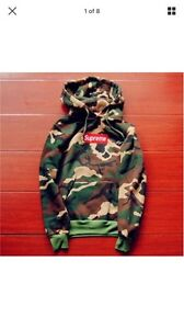 Camouflauge  supreme men's embroidered cotton sweater  hoodie