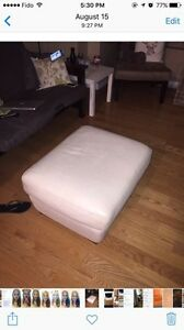 Leather ottoman in good condition - only $35!!