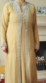 Womens Yellow Asian Dress