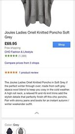 Ladies joules poncho