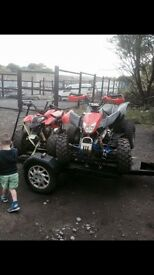 200cc wuad and trailer for sale