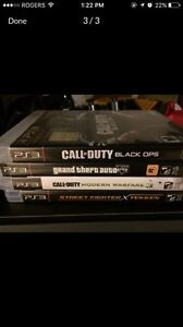 PS3 with 4 games.  London Ontario image 2