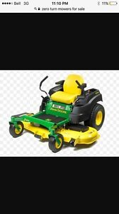 Looking for: Zero Turn/riding lawn mower that needs work