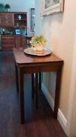 """Antique Expanding Walnut Dining Table.  Expands from 20"""" to 70"""""""