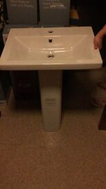 Sinks have varies sizes brand new some with cabinets and some without