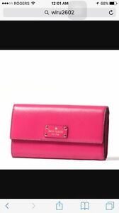 Kate spade fuchsia leather wallet brand new with tag