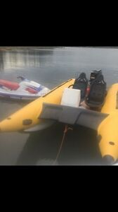 Inflatable boat 18ft 90 hp mercury