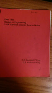 ENG 1430, Design in Engineering, 2014 Summer Session Course Note