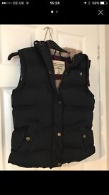Ladies Navy Gilet with faux fur lining