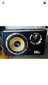 Vibe cbr 10 inch subwoofer with built in amp - 1300 watts