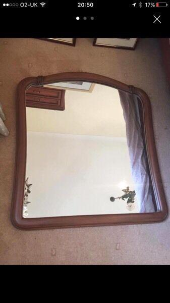 Wooden Italian mirror