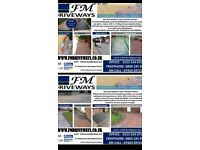 Fm driveways block paving specialist,turfing,fencing and slabbing.call for free quote