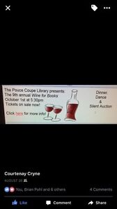 Wine for Books tickets x4
