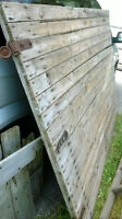 ANTIQUE BARN WOOD DOORS AND OTHER PEICES