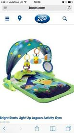 Baby activity mat lights and sounds bright starts activity gym