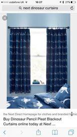 Next Dinosaur Curtains: 2 pairs