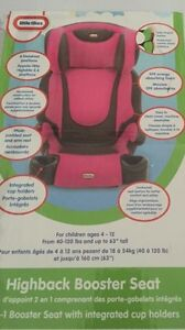 Brand new booster seats in pink or gray! Price is firm!