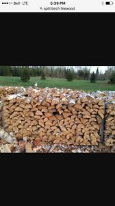 Birch Firewood Seasoned, Split and Delivered